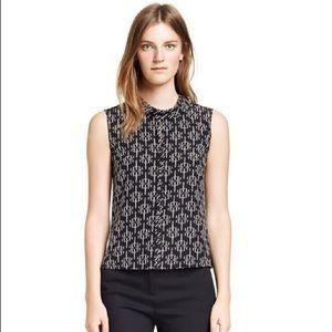 Tory Burch Black & White sleeveless silk top